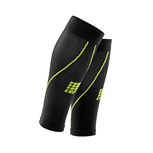 CEP - Calf Sleeve 2.0 | Beinstulpen für Herren in schwarz/grün | Größe V | Beinlinge für exakte Wadenkompression