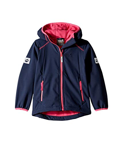 Jack Wolfskin Mädchen Whirlwind Jacket Girls Softshelljacke, Midnight Blue, 152