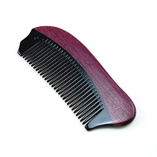 Bürsten Kamm MassagekammCarving Festival Love Gifts Schriftzug Hörner Kämme Violet Wood Shun Hair Corner Comb @Redhornkamm - Horn Hair Comb