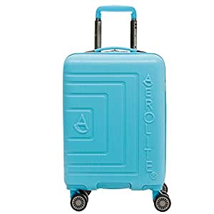 8cf8e27f56e2 Aerolite Lightweight ABS Hard Shell 8 Wheel Carry On Travel Trolley Hand  Cabin Luggage Suitcase, Approved for Ryanair, easyJet, British Airways, ...