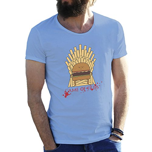 Game Of Fries Game Of Thrones T-shirt maglietta per uomo Azzurro