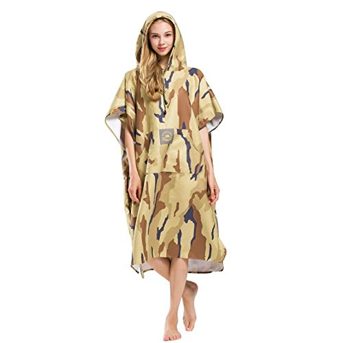Poncho toalla capucha Camuflaje Unisex Adultos Playa