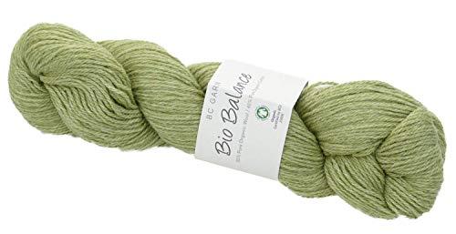BC Garn Bio Balance Wolle Fb. 04, GOTS Zertifiziert, Pure Organic Wool + Pure Organic Cotton Biowolle zum Stricken oder Häkeln -