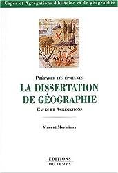 La dissertation de géographie