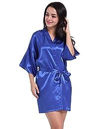 Lialbert Donna Lingerie SexyScollo V Sleepwear Pizzo Biancheria Intima Lace  Nightgown Camicia da Notte con Cintura 996f400a59a