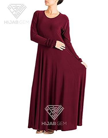Umbrella Abaya - Wine 60