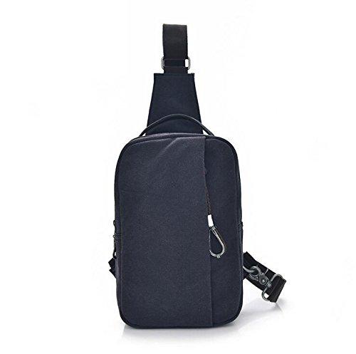 DJB/ Multifunktionale Brust Canvas Tasche Herren Reise Tasche Rucksack dual Schulter Messenger Tasche Vintage Brust Pack Black