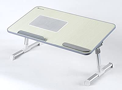 Ergonomic Adjustable Portable Folding Laptop Bedside Table Stand Desk Bed Sofa Bed Mate Tray with Fan - inexpensive UK sofabed shop.