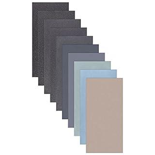 5 Blatt Schleifpapier Sortiment 210 x 110 mm P5000 P3000 P2000 P1000 P800 Nass und Trocken Sandpapier