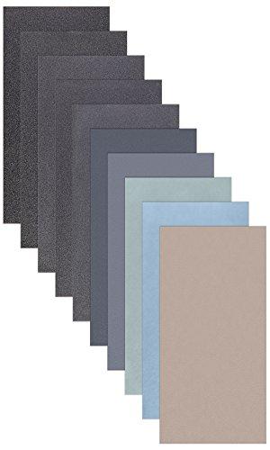 10 Blatt Schleifpapier Sortiment 210 x 110 mm P5000 P3000 P2000 P1000 P800 Nass und Trocken Sandpapier 10 Blättern