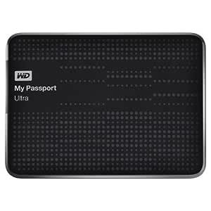 WD My Passport Ultra 1TB Portable External Hard Drive (Black)-WDBZFP0010BBK-BESN