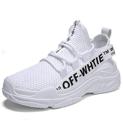 r Lässige Atmungsaktive Laufschuhe Leicht Tragen Einzelne Männliche Schuhe,White,39 ()