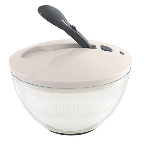 Lurch Salatschleuder mit Pumphebel, Kunststoff, Iron Grau/Weiß, 26 x 26 x 19 cm
