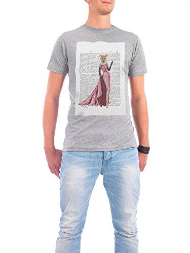"""Design T-Shirt Männer Continental Cotton """"Lady Fox"""" - stylisches Shirt Tiere von FabFunky Grau"""