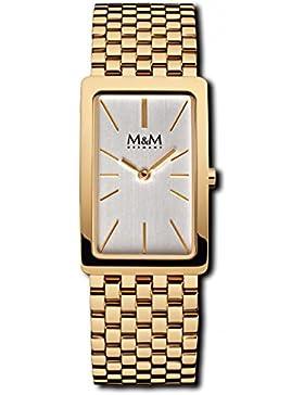 M&M Damenuhr Edelstahlband M11902-232 Rollband Gold plattiert