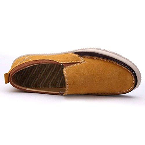 ZXCV Outdoor Schuhe Casual Herren Schuhe einfache Schuhe Schuhe Leder Trend wilden faulen Schuhe Khaki