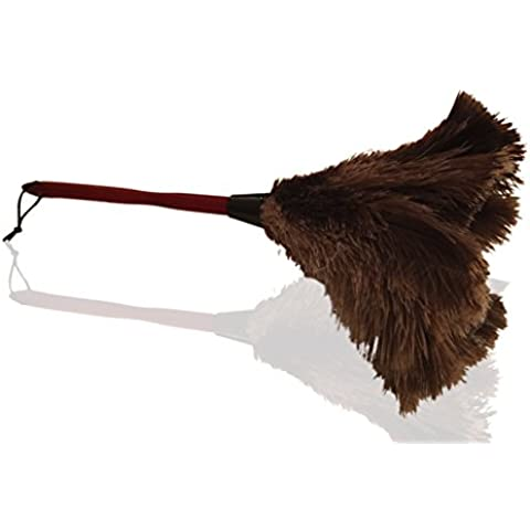 """Plumero de plumas de avestruz auténticas calidad premium 50cm (20"""") - Atrae las partículas de polvo - Plumas suaves y gruesas y mango de madera ergonómico y duradero - Limpieza fácil y eficiente"""