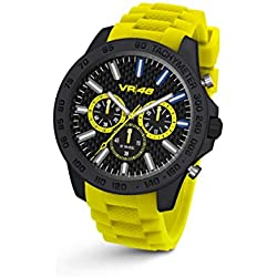 Chrono VR46 Valentino Rossi VR112 by TW Steel - 45 mm - Unisex watch, yellow silicon strap