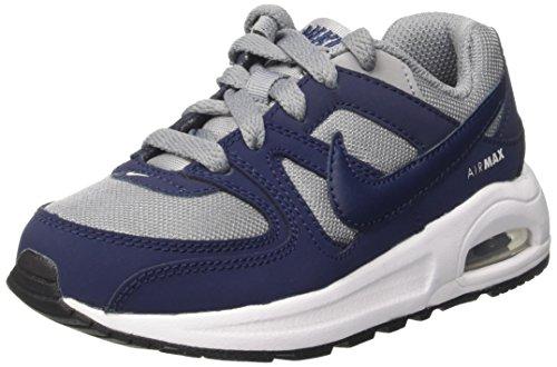 Nike Air Max Command Flex Ps, Sneakers basses garçon Gris (Stealth/midnight Navy/white/black)