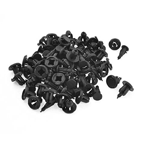Water & Wood 60 Pcs 10mm Fender Rivets Screw Fasteners Clips for Honda Acura with Car Cleaning Clothing