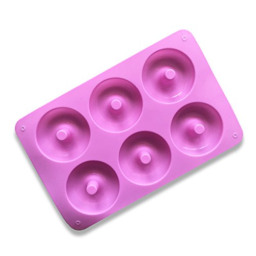 Juego de Moldes de silicona de 6 Hobbies Moldes Muffin 3D Donut para tortas, pasteles, mini pasteles, magdalenas, chocolate, hielo, etc.