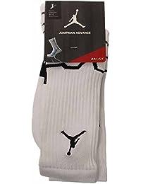 Air Jordan Jumpman Advance Crew Socks (White/Black) Large