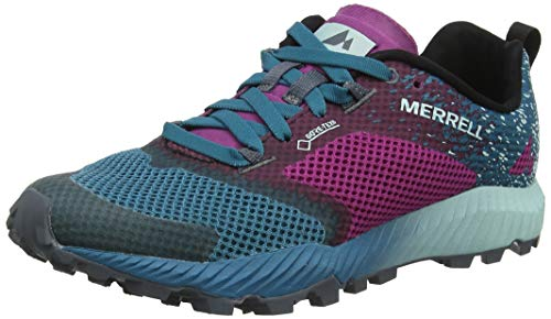 Merrell All All out Crush 2 GTX, Scarpe da Trail Running Donna, Multicolore Clover/Ocean, 37.5 EU