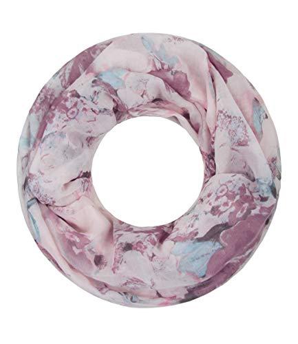 Majea Majea NEUE Saison Damen Loop Schal viele Farben Muster Schlauchschal Halstuch in aktuellen Trendfarben, Alt Rosa 17, 180 x 90