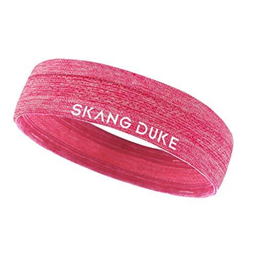 PPWOMEN Haarschmuck - Unisex Sport Stirnband Schweißband Mit Anti-Rutsch-Stirnband Yoga Haarband (Rot, Eine Größe) (Kleine Neon-haare Bürsten)