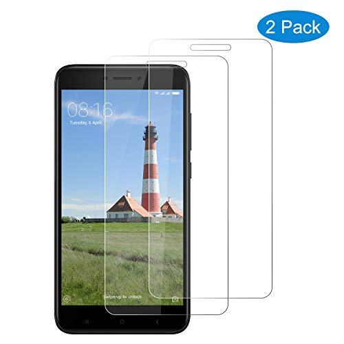 CNXUS [2-Pack Cristal Templado Compatible con Xiaomi Redmi 4X, Protector de Pantalla Xiaomi Redmi 4X [9H Duresa] [Fácil de Instalar] [Resistente a los arañazos][Anti-Aceite]