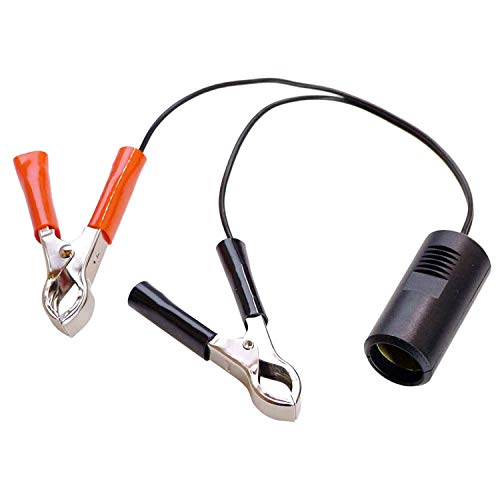 as - Schwabe Batterieadapter mit Zigarettenanzünderkupplung - 12 V Adapter DIN EN 61547 für Camping - 1m Leitung mit 2 Batterieklemmen - PKW, Wohnwagen & Wohnmobil Zubehör - IP20 - Schwarz-Rot I 42305