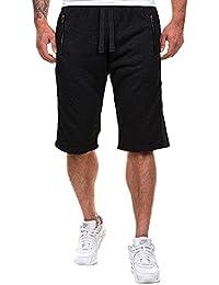 MODCHOK Hombre Pantalones Cortos Bermuda Jogging Bolsillos Deportivo Casual Cordón
