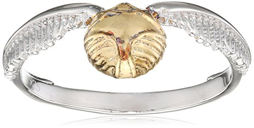 Harry potter Anillo de Plata Snitch Dorada