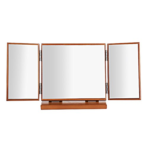 Guedieo-Plegable-Espejo-Cosmtico-Espejo-de-Afeitar-Espejo-de-viajes-3-pgina-Portatil-Foldable-Espejo-Cosmtico-para-Maquillaje-Espejo-de-Maquillaje-de-Bolso-con-Luces