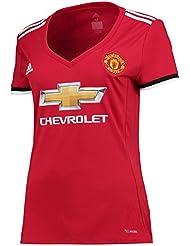 Manchester United 17/18 Femmes - Maillot de Foot Réplique Domicile - Rouge/Blanc/Noir
