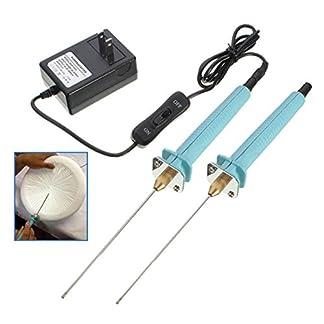 ExcLent 2pcs cortador de la pluma de poliestireno eléctrico cortador de la espuma del alambre de la goma caliente Styro herramientas del cuchillo de corte