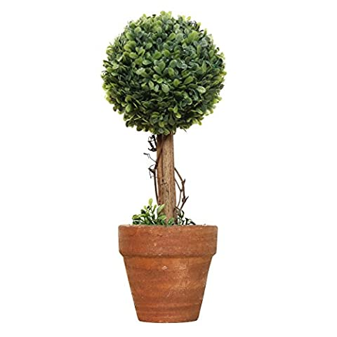 miniascape - TOOGOO(R) Plastic Garden Grass Ball Topiary Tree Pot Dried Plant for Wedding Party Decor(Spherical)