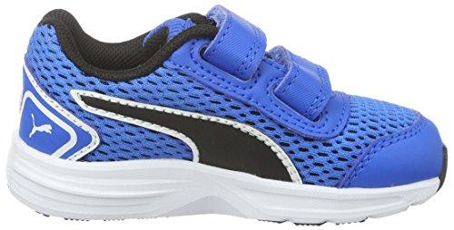 Puma Descendant V4 V, Baskets Basses Mixte Enfant Bleu - Blau (Electric Blue lemonade-puma Black 02)