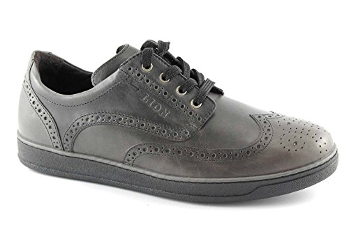 LION 11100 ETRUSCO grey grigio scarpe uomo sportive eleganti derby inglese 45