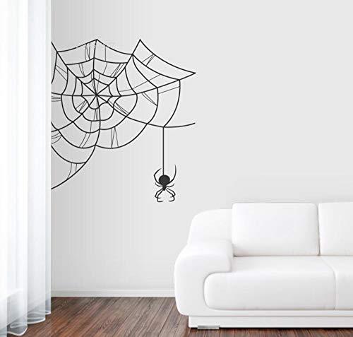 Design Dekor Decals Black Widow Spiderweb Wohnzimmer Removalbe Starke selbstklebende Vinyl58 * 58 Cm ()