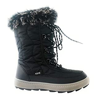 AXA SHOES Women's Doposci Donna Snow Boots Black Size: 4