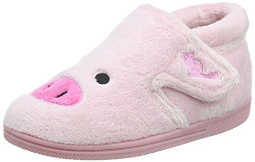 Chipmunks Peggy, Chaussons fille Rose - Pink (Pink 024)