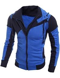 Kapuzenpullover Herren Sonnena Winter Kapuzenjacke Hoodie Sweatshirt Slim  Fit Cardigan Outwear Mantel Retro Jacker Pullover… fbb7958fb4