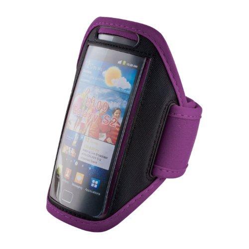 handy-point Armhalter, Armband für Sport, Laufen, Joggen für Samsung Galaxy S4, S5, S5 Neo, S7, A5 2016, Alpha, Grand Neo, Sony Xperia Z1, Z2, Z3, HTC One M8, One E8, Desire Eye, 620, LG L Bello, G3s, L80, G2, Lumia 535, 930, 830... Universell 14,5 cm x 8 cm mit Fach für Schlüssel, Kopfhörer, Lila (Handy-l80)