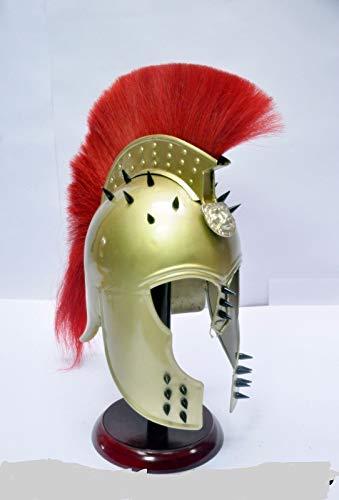 cher König Leonidas Griechischer 300 Spartan Rüstung Helm Halloween Kostüm Film Rollenspiel | Mittelalterlicher Helm | Maske Partyhelm| ()