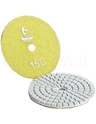 acmebuy (TM) 1pc profesional 80mm 3pulgadas Wet/Dry granito mármol hormigón Diamante Pulido Pads Disco Lijadora Pad granos) # 150