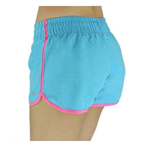 Badeshorts Damen Boardshorts Strandshorts Beach Shorts Kurz Lässige  Sommershorts Hotpants Muster 4 - Türkis bb33276820
