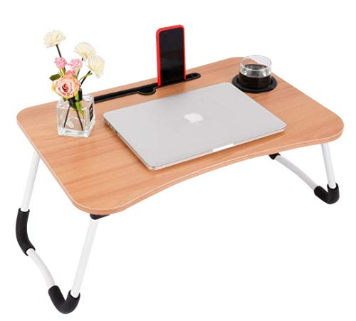 TS WITH TECHSUN Multi-Purpose Wooden Laptop Desk Table Stand/Study Table/Bed...