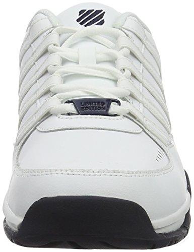 K-Swiss Herren Baxter Low-Top Weiß (White/White/Navy 959)