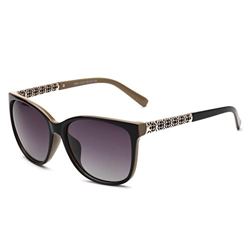 asses Women European and American Fashion Sunglasses Luxury Pearl Rivet Big Frame Siamese Sunglasses Windproof Glasses Girl ()